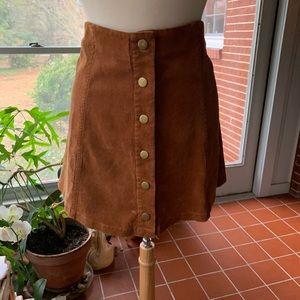 NWT White Crow brown corduroy mini skirt